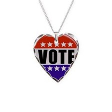 Vote Button Necklace