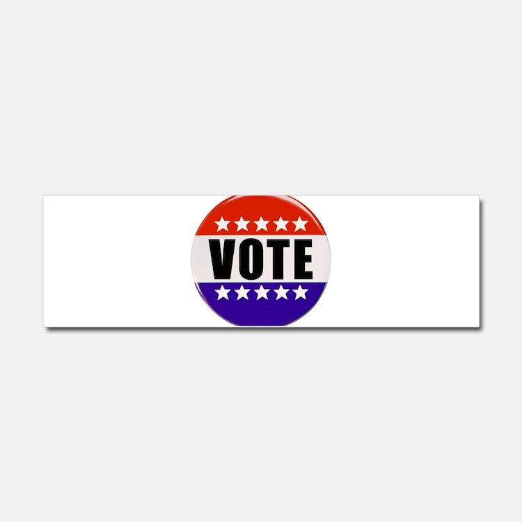 Vote Button Car Magnet 10 x 3