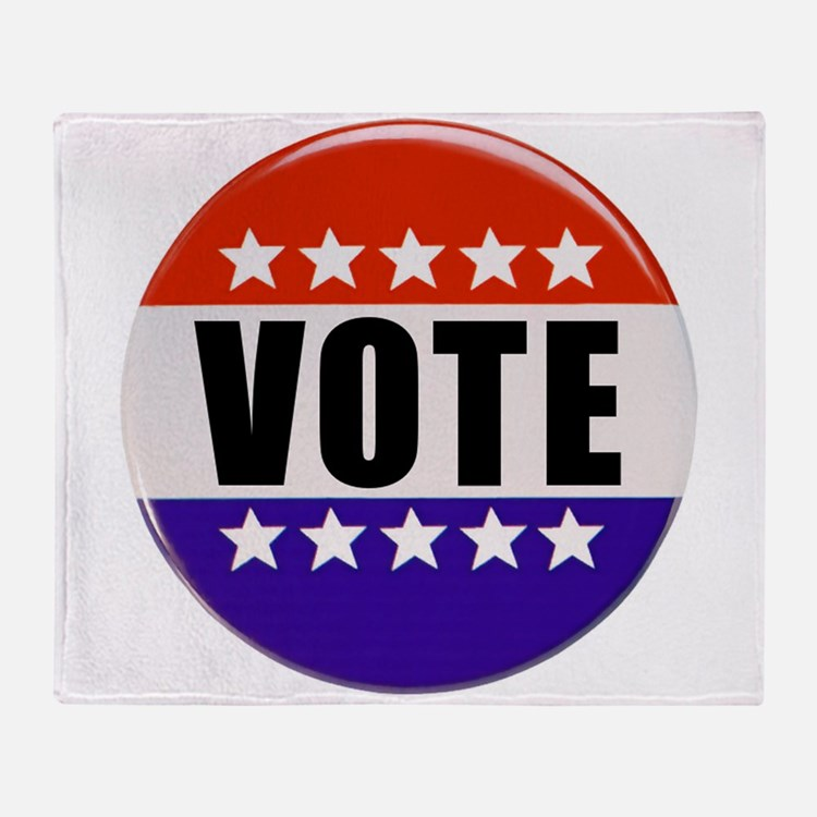 Vote Button Throw Blanket