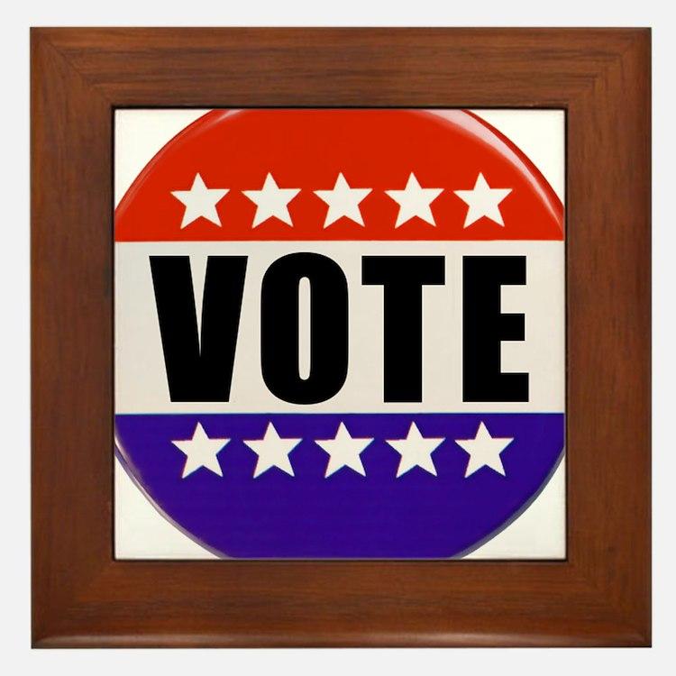 Vote Button Framed Tile