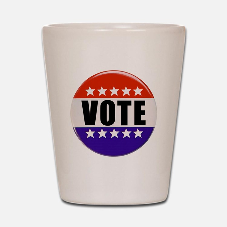 Vote Button Shot Glass