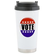 Vote Button Travel Mug
