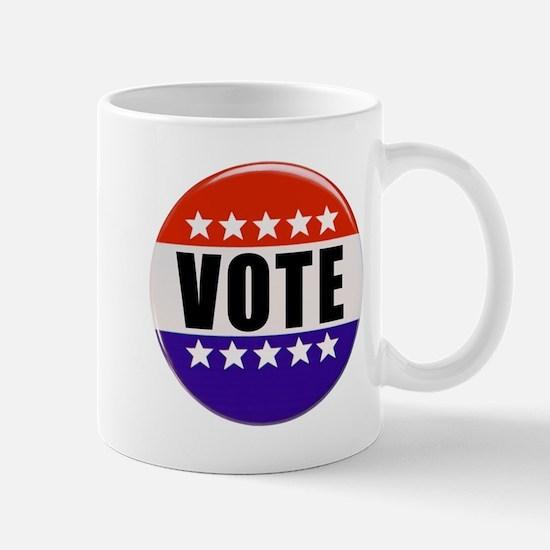 Vote Button Mugs
