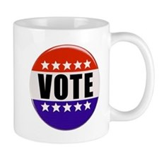 Vote Button Mugs