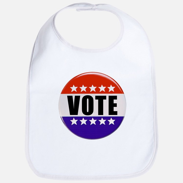 Vote Button Bib