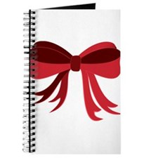Red Christmas Ribbon Bow Journal