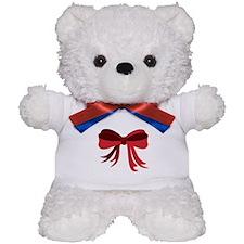 Red Christmas Ribbon Bow Teddy Bear