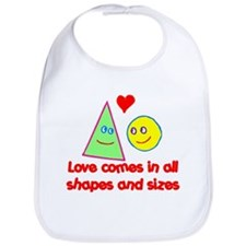 Love in all Shapes & Sizes Bib