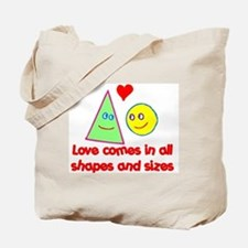 Love in all Shapes & Sizes Tote Bag