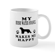 My Irish Water Spaniel makes me happy Mug