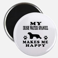 My Irish Water Spaniel makes me happy Magnet