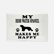 My Irish Water Spaniel makes me happy Rectangle Ma