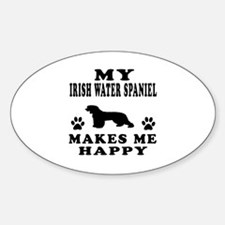 My Irish Water Spaniel makes me happy Decal