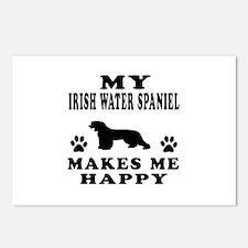 My Irish Water Spaniel makes me happy Postcards (P