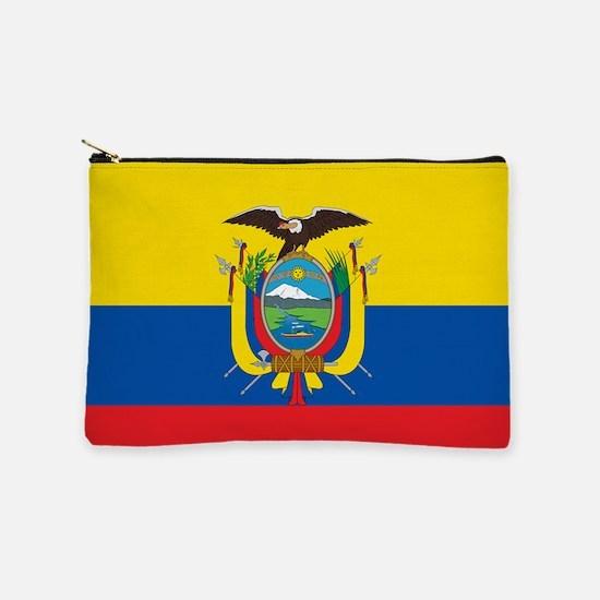 Flag of Ecuador Makeup Pouch