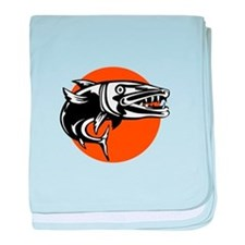 Barracuda Retro baby blanket