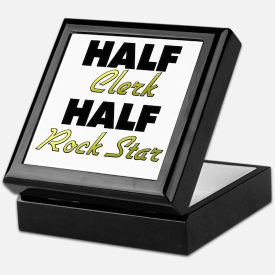 Half Clerk Half Rock Star Keepsake Box