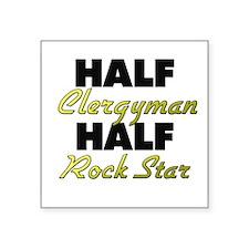 Half Clergyman Half Rock Star Sticker
