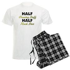 Half Cleaning Staff Half Rock Star Pajamas