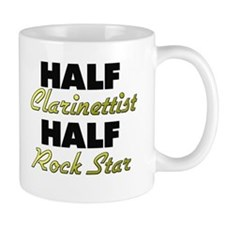 Half Clarinettist Half Rock Star Mugs