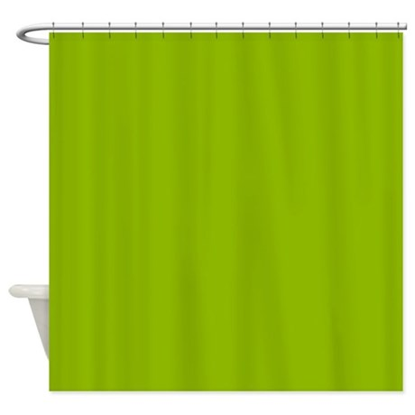 Solid Apple Green Shower Curtain
