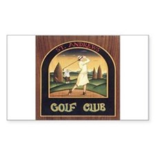 ST. ANDREW'S GOLF CLUB 1 Rectangle Decal