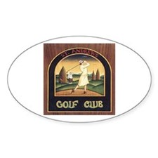 ST. ANDREW'S GOLF CLUB 1 Oval Decal