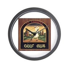 ST. ANDREW'S GOLF CLUB 1 Wall Clock