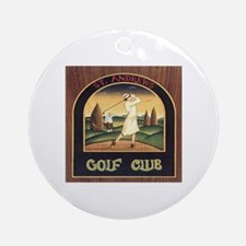 ST. ANDREW'S GOLF CLUB 1 Ornament (Round)