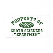 Property Of Earth Sciences Department Aluminum Lic