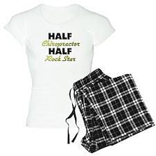Half Chiropractor Half Rock Star Pajamas