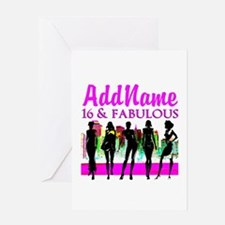 TRENDY 16TH Greeting Card