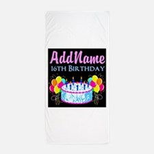 SUPER SWEET 16 Beach Towel