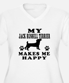 My Jack Russell Terrier makes me happy T-Shirt