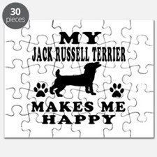 My Jack Russell Terrier makes me happy Puzzle