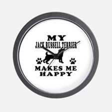 My Jack Russell Terrier makes me happy Wall Clock
