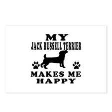 My Jack Russell Terrier makes me happy Postcards (