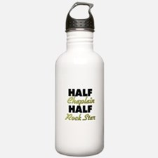 Half Chaplain Half Rock Star Water Bottle