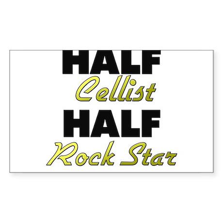 Half Cellist Half Rock Star Sticker