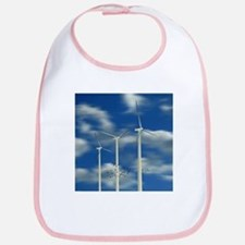 Wind Turbine Blue Clouds Bib