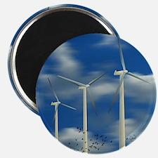 Wind Turbine Blue Clouds Magnet