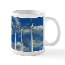 Wind Turbine Blue Clouds Mug