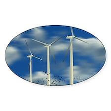 Wind Turbine Blue Clouds Decal
