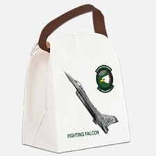 F-16_falcon_fighting.png Canvas Lunch Bag