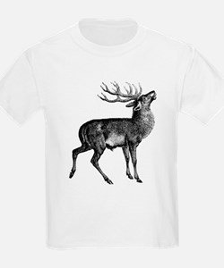 Red Deer Stag (Front) Kids T-Shirt