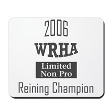Reining award Mousepad