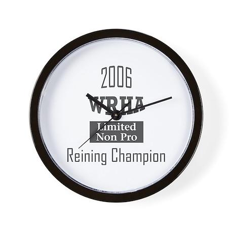 Reining award Wall Clock