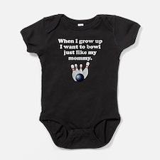 Bowl Like My Mommy Baby Bodysuit