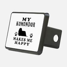 My Komondor makes me happy Hitch Cover