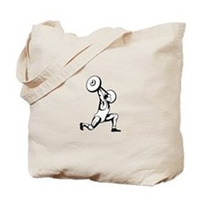 Weightlifter Lifting Barbell Retro Tote Bag